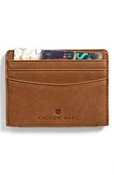 Andrew Marc New York Men's Andrew Marc 'Warren' Card Case Metallic Whiskey