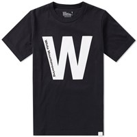 White Mountaineering Printed W Tee Black