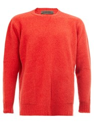 The Elder Statesman Cashmere Classic Jumper Red