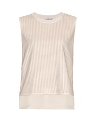 Vince Micro Pleat Georgette Top