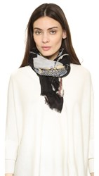Yarnz Fashion's Last Supper Scarf Black