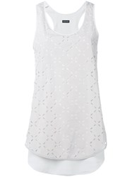 Emporio Armani Perforated Detail Top Grey