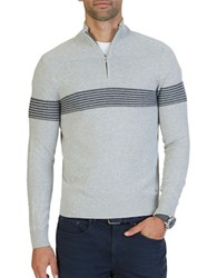 Nautica Textured Half Zip Pullover Grey Heather