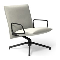 Knoll Pilot By Lounge Chair Low Back With Loop Arm