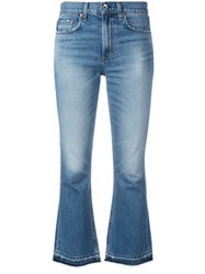 Rag And Bone Jean Cropped Jeans Blue