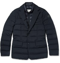 Moncler Ferrand Quilted Stretch Shell Down Jacket Navy