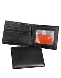 Perry Ellis Gramercy Soft Lambskin Slimfold Wallet Black