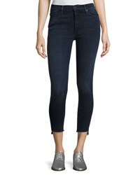 Mother Stunner Zip Ankle Step Fray Jeans A Trip Down Memory Lane Indigo