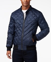 Guess Men's Adriel Quilted Jacket Purple