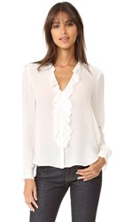 L'agence Guilietta Ruffle Blouse Ivory