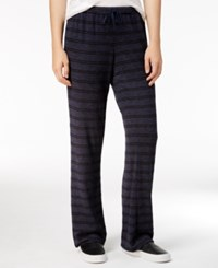 Hippie Rose Juniors' Striped Heathered Soft Pants Mountain Blue