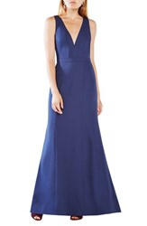 Bcbgmaxazria Women's 'Riva' Cutout Back Satin Gown