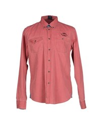 Aeronautica Militare Shirts Shirts Men Red