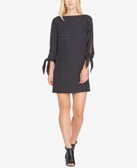 Tahari By Arthur S. Levine Asl Tie Sleeve Dress Black