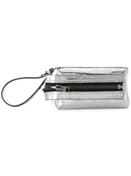 Tom Ford Zipped Wristlet Clutch Metallic
