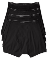 Jockey Men's Classic Collection Boxer Briefs 4 Pack Black
