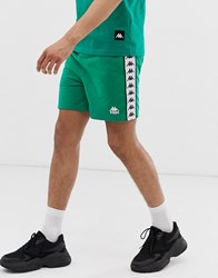 Kappa Authentic Cole Shorts With Logo Taping In Green