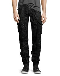 Prps Resin Coated Cargo Pants Black