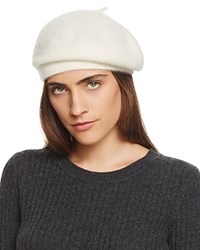 Bloomingdale's C By Cashmere Angelina Beret Ivory