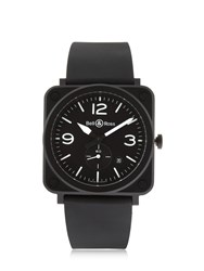 Bell And Ross Brs Matte Black Ceramic Watch