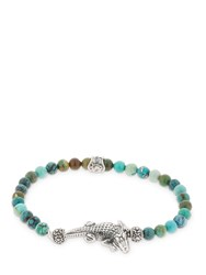 Cantini Mc Firenze Croco Turquoise Beaded Bracelet Multicolor