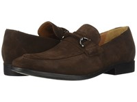 Clarks Gilman Bit Dark Brown Suede Slip On Shoes