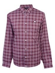 Pretty Green Instow Check Shirt Red