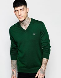 Fred Perry Jumper With V Neck Green