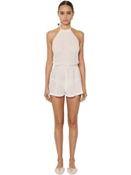 Missoni Viscose Knit Lace Romper White