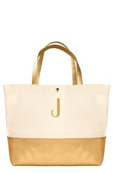 Cathy's Concepts Personalized Canvas Tote Yellow Gold J