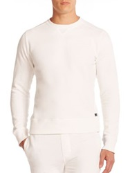 Wahts Cotton And Cashmere Crewneck Sweater Grey White