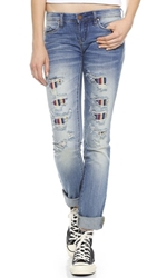 Blank Relaxed Straight Leg Jeans With Lining Withdrawal