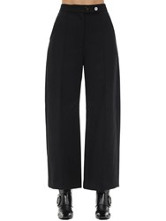 Khaite Yasmin Water Resistant Cotton Twill Pant Black