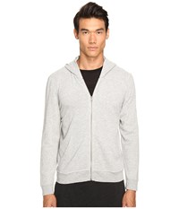 Atm Anthony Thomas Melillo French Terry Zip Hoodie Heather Grey 2