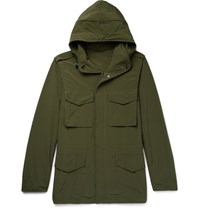 Aspesi Shell Hooded Field Jacket Army Green