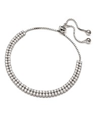 Folli Follie Fashionably Silver Double Sparkle Ball Bracelet