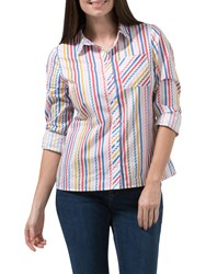 Sugarhill Boutique Vicki Candy Stripe Shirt Multi