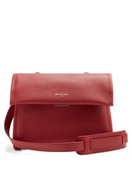 Balenciaga Tools Leather Satchel Bag Red
