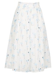 Cutie Cool Flamingo Print Skirt Blue