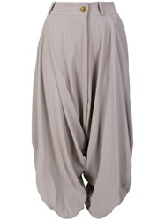 Vivienne Westwood Red Label Cropped Draped Trousers Nude Neutrals