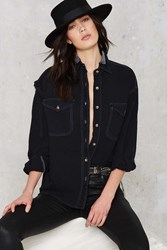 Nasty Gal After Party Vintage Let Her Rip Distressed Shirt