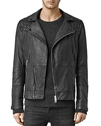 Allsaints Kushiro Leather Slim Fit Moto Jacket Black