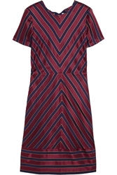J.Crew Collection Chevron Striped Silk Satin Dress