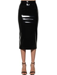 N 21 Vinyl Pencil Skirt Black