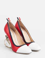 Thom Browne Whale Pumps Red White