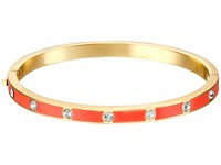 Kate Spade Set In Stone Enamel Stone Hinged Bangle Clear Coral