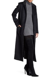 Lamarque Genuine Leather Trim Levitt Coat Black