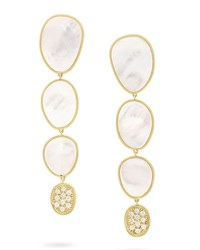 Marco Bicego 18K Mother Of Pearl And Diamond Drop Earrings