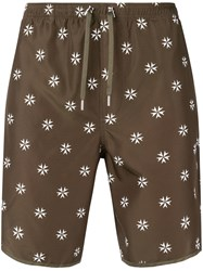 Neil Barrett Patterned Swimming Trunks Green