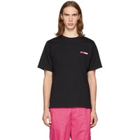 Opening Ceremony Ssense Exclusive Black And Pink Logo T Shirt